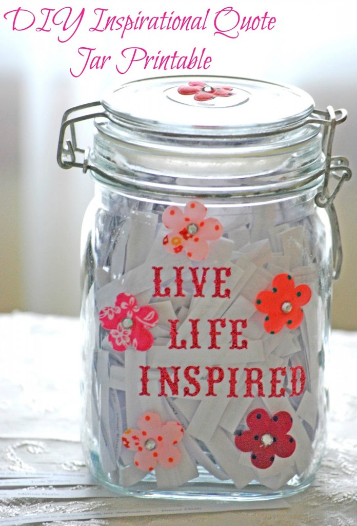 Free Inspirational Quote Jar Printables Free Homeschool
