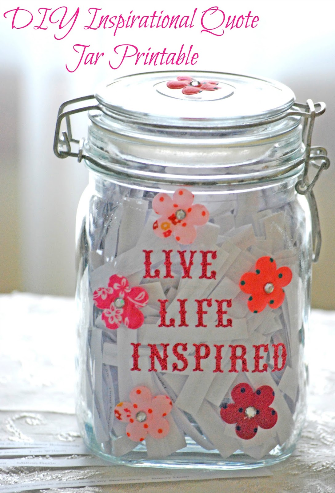 Quotes Jar Free Inspirational Quote Jar Printables  Free Homeschool Deals ©