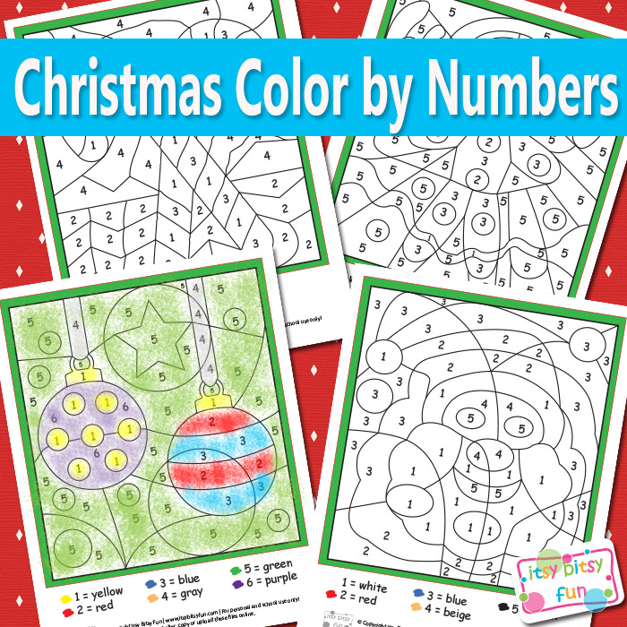 FREE Christmas Color By Number Pages | Free Homeschool Deals ©