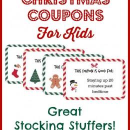 FREE Christmas Coupon Printable for Kids