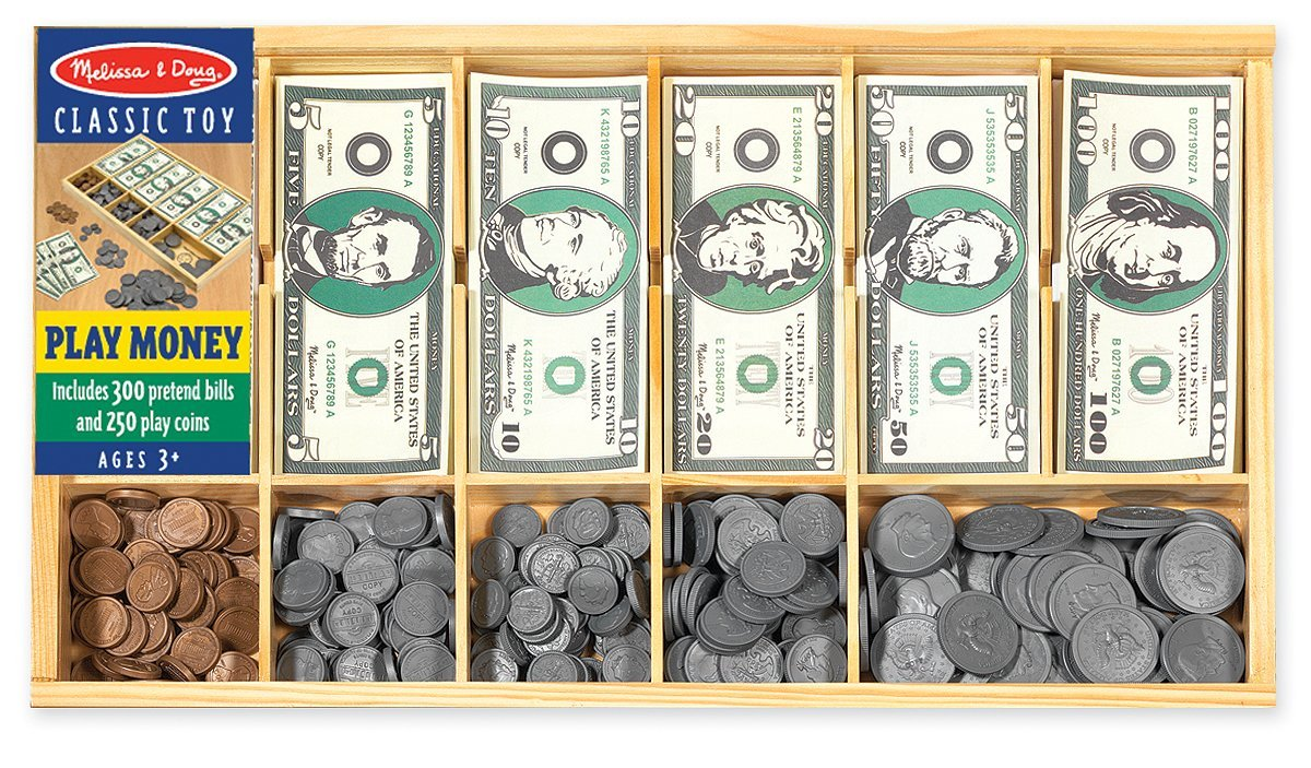 Pretend Toy Money : Melissa doug play money set only reg
