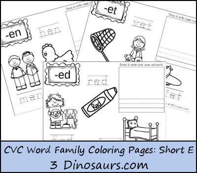 FREE Short Vowel e Word Family