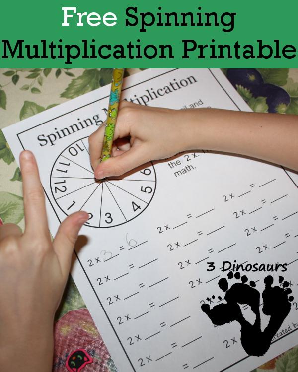 FREE Multiplication Spinning Game Printable Worksheet – Free Multiplication Games Worksheets