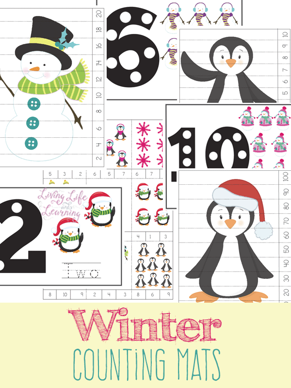 Free Winter Themed Counting Mats Free Homeschool Deals
