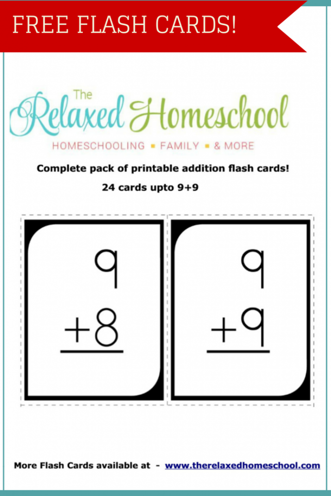 free 24 math addition flash cards free homeschool deals. Black Bedroom Furniture Sets. Home Design Ideas