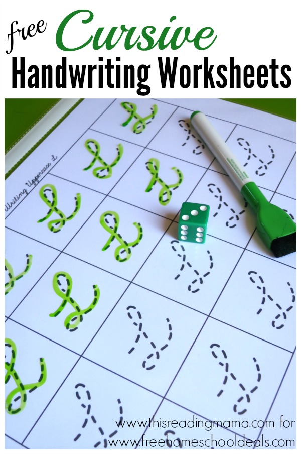 FREE CURSIVE HANDWRITING WORKSHEETS (instant download) | Free ...