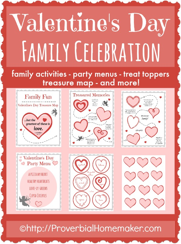valentines day family celebration printables free homeschool deals. Black Bedroom Furniture Sets. Home Design Ideas