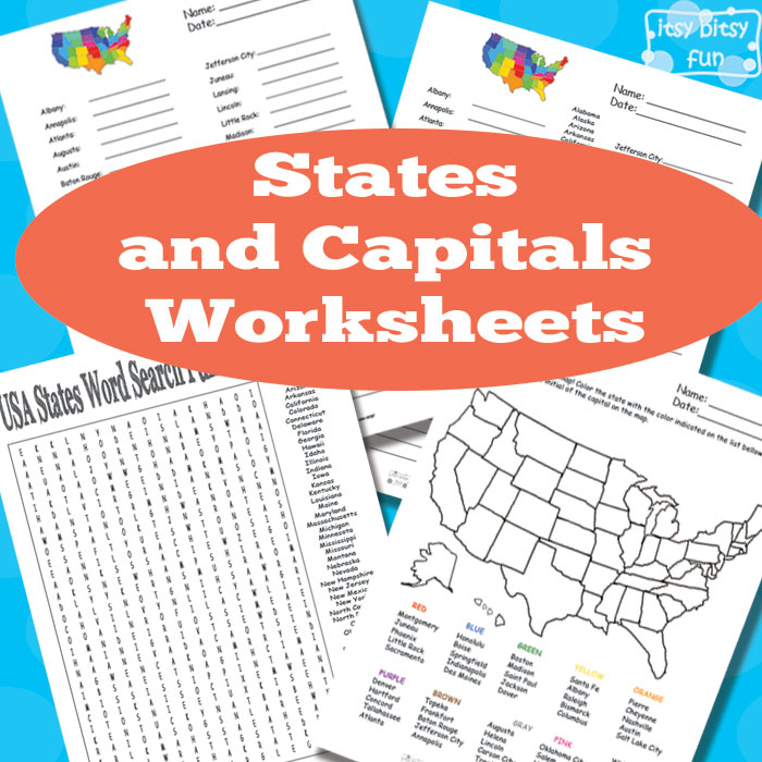 Free States And Capitals Worksheets Free Homeschool Deals