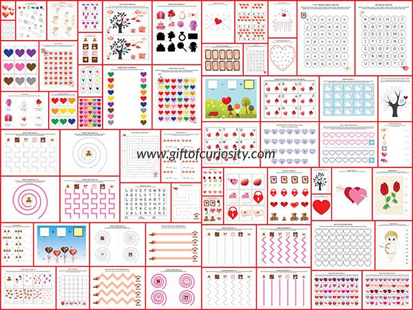 free valentine printable pack free homeschool deals. Black Bedroom Furniture Sets. Home Design Ideas