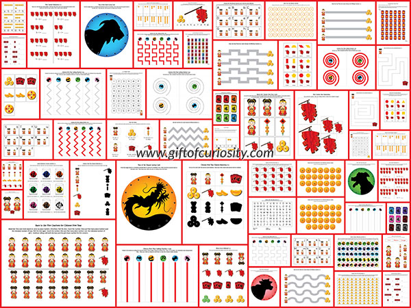 free chinese new year printable pack free homeschool deals. Black Bedroom Furniture Sets. Home Design Ideas