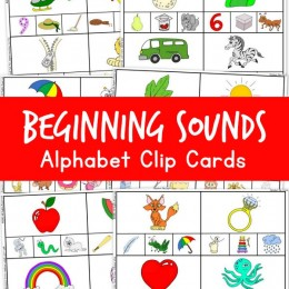 FREE BEGINNING SOUNDS ALPHABET CLIP CARDS (instant download)