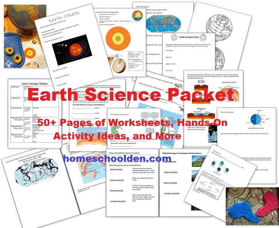 Printables High School Earth Science Worksheets free earth science unit study 50 activities printables cap