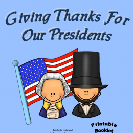 FREE Giving Thanks for Our Presidents Booklet
