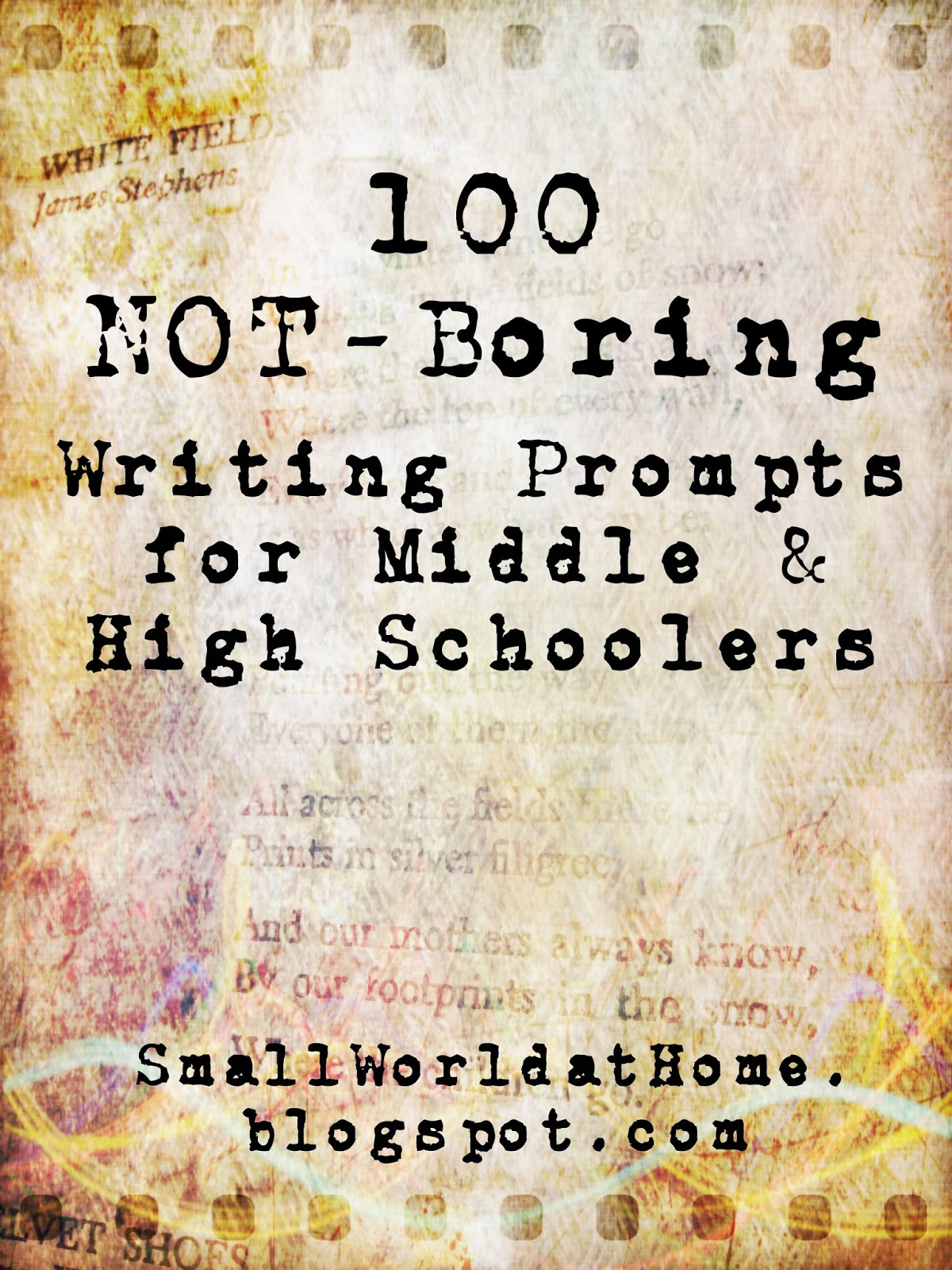 writing prompts for high school creative writing