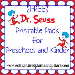 FREE Dr. Seuss Printables Pack