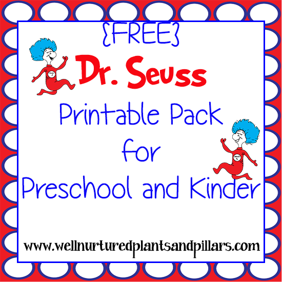 FREE Dr Seuss Printables Pack – Dr Seuss Worksheets