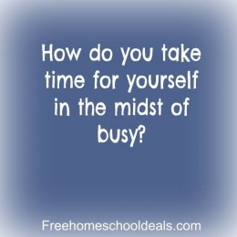 Question Time: How do you take time for yourself in the midst of busy?