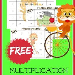 FREE Multiplication Math Sheets (subscriber freebie)
