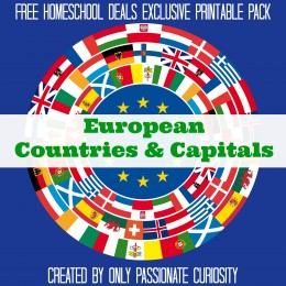 FREE EUROPEAN COUNTRIES AND CAPITALS PACK (instant download)