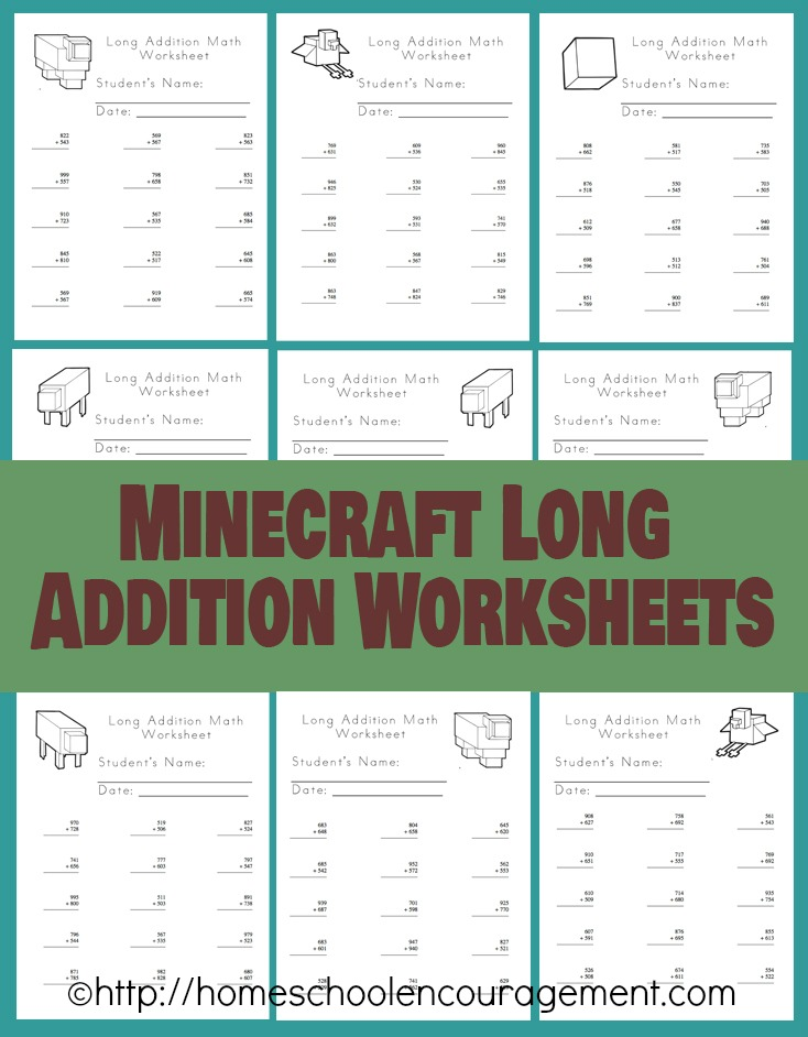 Free Minecraft Homeschool Resources Printables Crafts Snacks – Homeschooling Worksheets