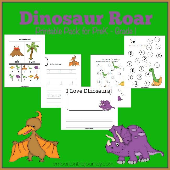 free dinosaur printable prek 1st grade pack free homeschool deals. Black Bedroom Furniture Sets. Home Design Ideas