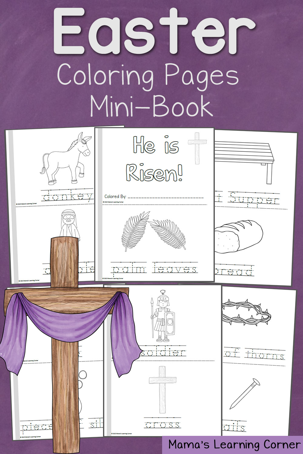 Free Resurrection Coloring Pages Mini Book Free
