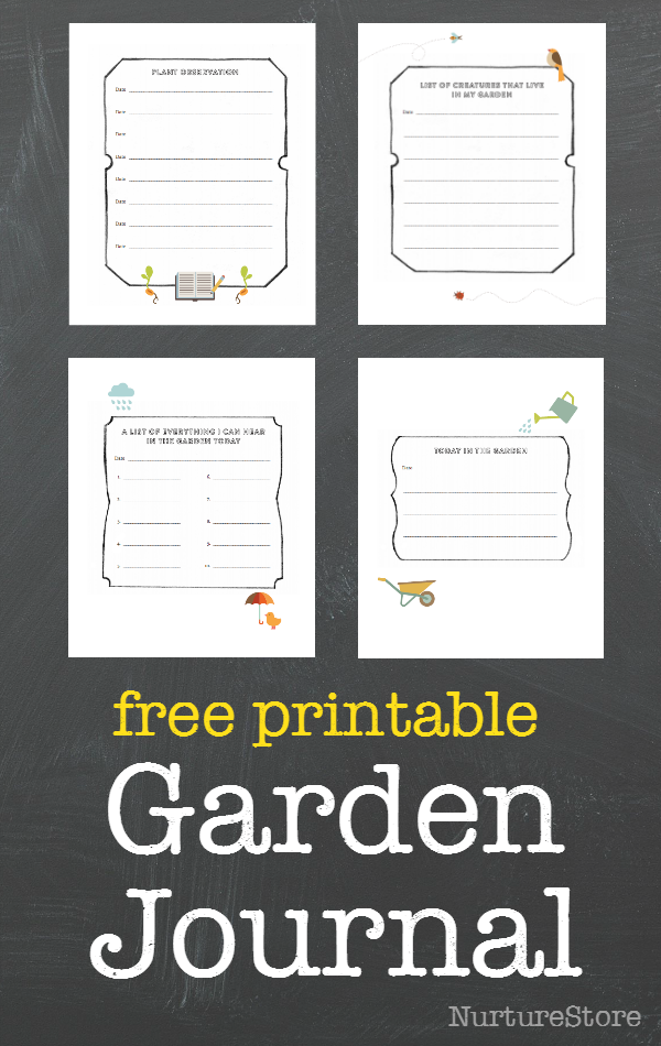 It's just a photo of Tactueux Free Printable Garden Journal