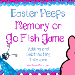 FREE Easter Peeps Memory Math Game