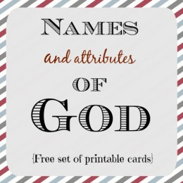 FREE Names of God Card Printables