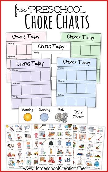 free preschool chore chart system