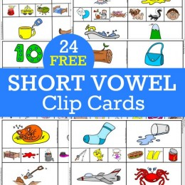 FREE SHORT VOWEL CLIP CARDS 24 pack! (instant download)