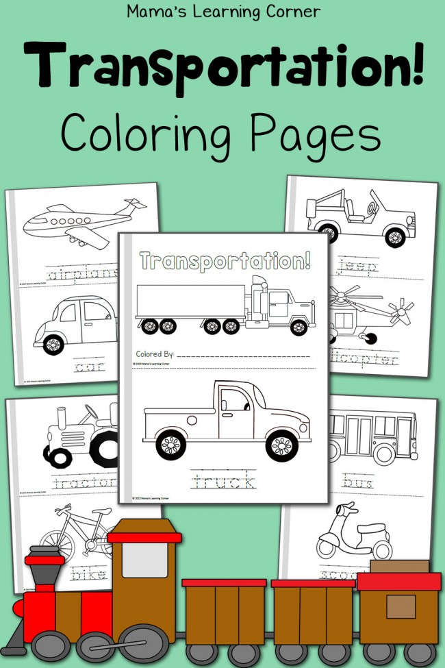 FREE Transportation Themed Coloring Pages Free