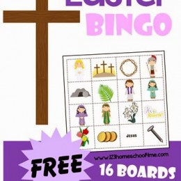 FREE Easter Bingo Game Boards