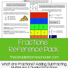 FREE Fractions Reference Pack