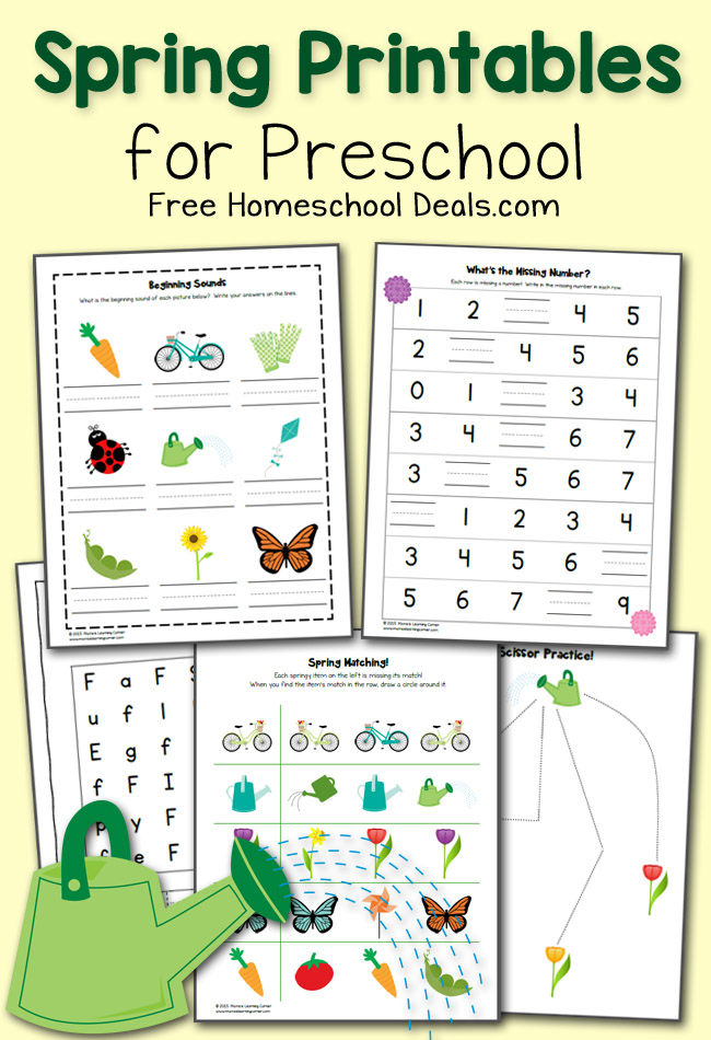 spring preschool worksheets fhd march 2015 - Free Preschool Worksheet