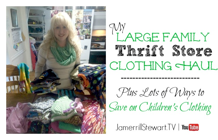 Large Family Thrift Store Clothing Haul