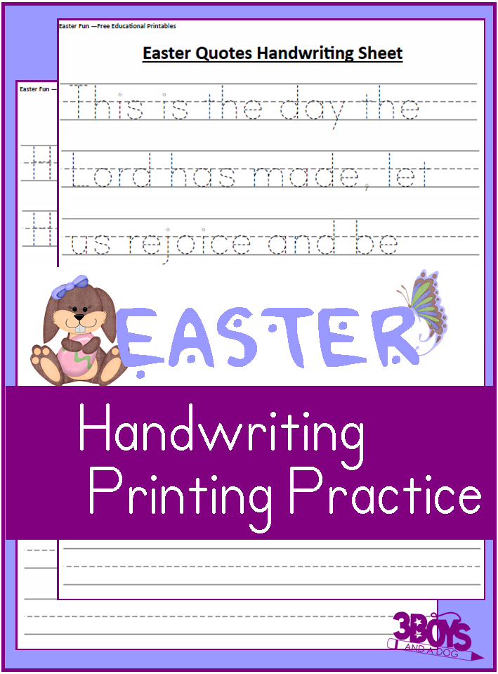 free easter themed handwriting sheets free homeschool deals. Black Bedroom Furniture Sets. Home Design Ideas