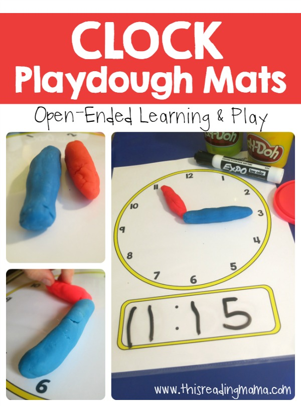 Free Telling Time Play Dough Mats Free Homeschool Deals