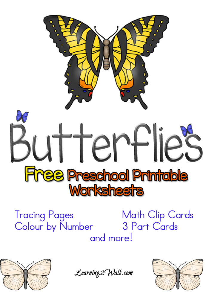 Free Preschool Butterfly Worksheets Free Homeschool Deals