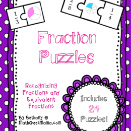 FREE Fraction Puzzles
