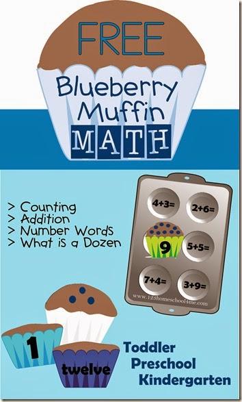 Free blueberry math game and printables free homeschool deals - Muffins fur kindergarten ...