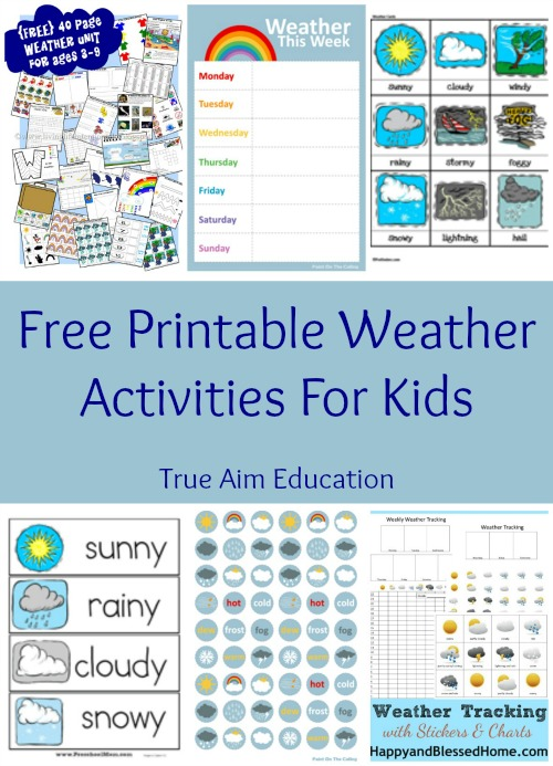 FREE Weather Activities and Printables Free Homeschool