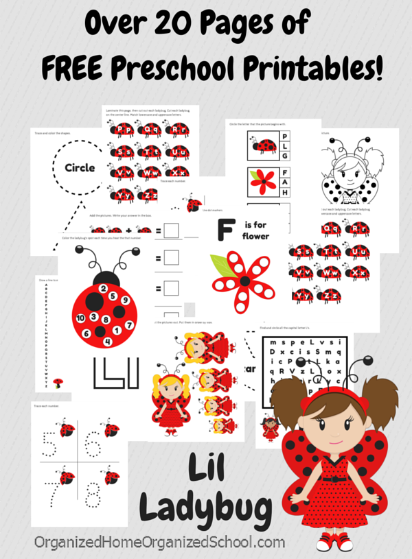 Free Preschool Ladybug Pack Free Homeschool Deals