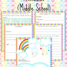 FREE Middle School Rainbow Unit Study and Printables pack