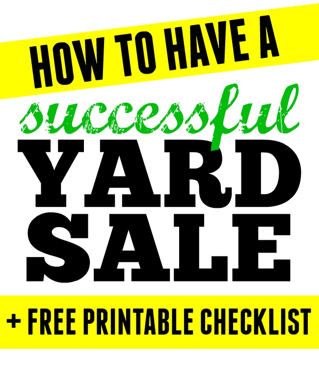 It's just a picture of Smart Free Garage Sale Printables