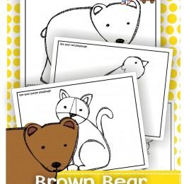 Free Brown Bear Playdough Mats
