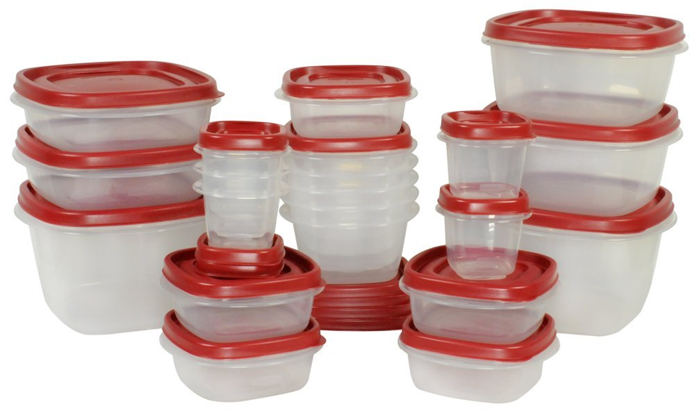 The Rubbermaid 42-Piece Easy Find Lid Food Storage Set is currently on