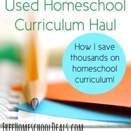 How I've Saved Thousands on Homeschool Curriculum + Used Homeschool Curriculum Haul