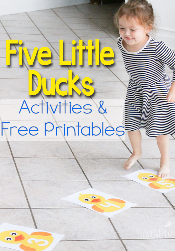 Free Five Little Ducks On The Pond Printables Free