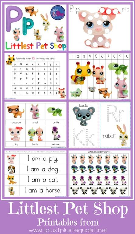 Free Littlest Pet Shop Printables Prek K Free